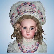Rare Sz 11  Jumeau Depose Antique Doll - Straight Wrists, Circa 1884 - Jewelry - Ant Silk Shoes  Layaway