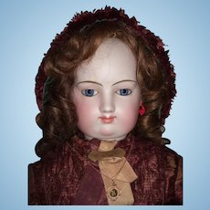 "Majestic 35"" Exhibition Antique French Fashion Doll Spiral Eyes w/Accessories, Bustle, Original Dress - Layaway"