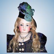 "20"" Antique French Fashion Doll  With Bisque Arms - Antique Clothing, Wig, Fantastic Boots - Layaway"