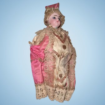 """14"""" Antique Doll's Marotte Original Condition - Wonderful Diplay item by Francois Gaulter Layaway"""