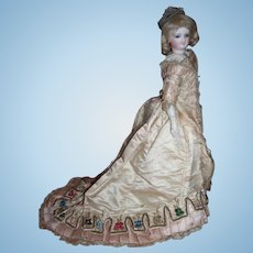"13"" Petite Bru French Fashion Smiler Antique Doll Circa 1872 with 2 Stunning Antique Gowns - Layaway!"
