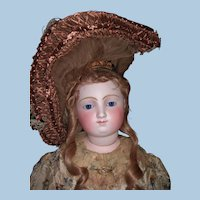 "Majestic 35"" Exhibition Antique French Fashion Doll Barrois - choice of 3 wigs - Layaway"
