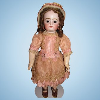 """15"""" Antique Early RABERY & DELPHIEU (RD) Pressed Bisque, 8 loose BJB - Stunning Courtier Dress - Layaway"""