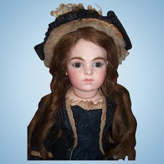 "17"" Antique Bru Doll on Chevrot Body - Antique Bru Dress & Hat - Layaway!"