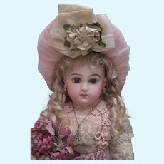 """18 1/2"""" EJ Jumeau Antique Doll - 8 loose ball body with straight wrists - layaway!"""