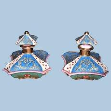 Antique 19th Century Pair of Jacob Petit Perfume Bottles - Layaway