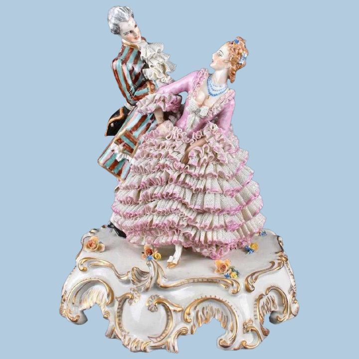 10 3 4 Antique Capodimonte Figurine With Dresden Lace Layaway Three Sisters Antiques Ruby Lane,Data Entry Jobs Online From Home Without Investment