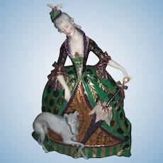 "10"" Tall Dresden Figurine - Amazing Detail - Ackerman & Fritz - Layaway"
