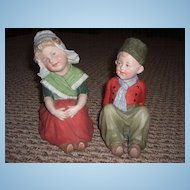Adorable Pair of All Bisque Figurines by Gebruder Heubach - Layaway