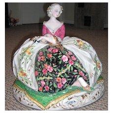 "HUGE 16 1/2"" Italian Porcelain Figurine"