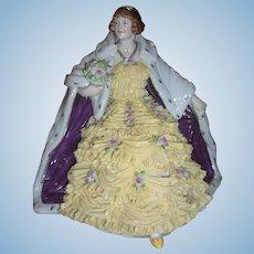 Stunning Antique Volkstedt Dresden Lace Figurine - Layaway