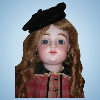 """24"""" Francois Gaultier - FG - Antique Doll w/Closed Mouth - Outstanding silk outfit - layaway"""