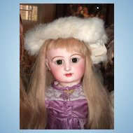 Antique Fur Muff & Hat for Larger Antique Doll (28-35)