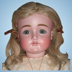 """Very RARE 27"""" Closed Mouth Pouty Kestner Antique Doll - X Mark Size 16 - Layaway"""