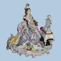 """Large 13"""" Volkstedt Dresden Figurine - Layaway"""