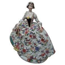 "Large 10"" Dresden Porcelain Figurine - Layaway"