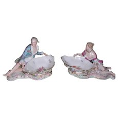 Fabulous Large Pair of Meissen Sweetmeat dishes - Layaway