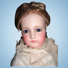 "18"" Adult Portrait French Fashion Doll by Jumeau in Original Gown & Elaborate Hairstyle - Layaway"