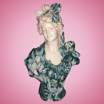 Stunning & Rare Royal Dux Antique Bust - Unusual Decor - Layaway