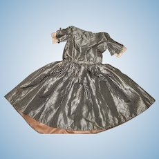 "Antique Striped Silk Victorian Child's Dress w/Provenance owned by  by Lucy ""1844-1853"" Layaway"
