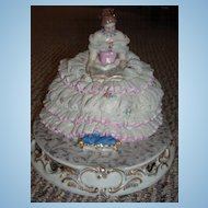Lovely Large Dresden Lace Figurine