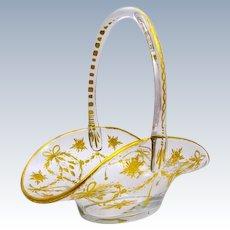 Antique St Louis Crystal Bon Bon Basket
