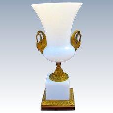 Antique French White Opaline Glass Vase