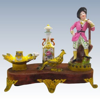 A Rare French 19th Century French 'Jacob Petit' Porcelain Perfume Set