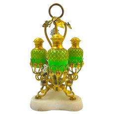 are Antique Palais Royal Opaline and Dore Bronze Perfume Set.