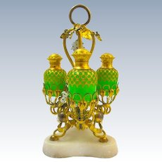 are Antique Palais Royal Opaline and Dore Bronze Perfume Set.