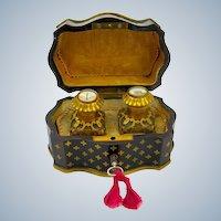 Rare Antique French Palais Royal Mechanical Perfume Casket