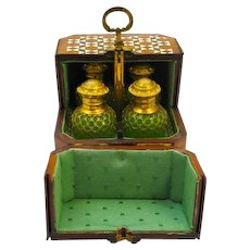 Antique Palais Royal Perfume Casket in Beautiful Quality Kings wood.