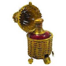 Rare Antique Palais Royal Bee Hive Perfume Bottle Set.