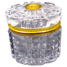 High Quality BACCARAT Circa 1820 Fine Cut Crystal Casket with and Fine Dore Bronze Mount.