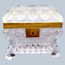 Antique BACCARAT Highly Cut Crystal Glass Casket