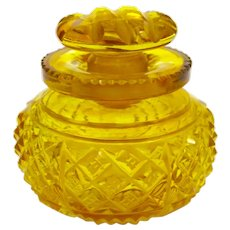 Antique Amber Cut Crystal Perfume Bottle and Stopper.