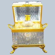 Monumental Antique Baccarat Cut Crystal Decanter Set