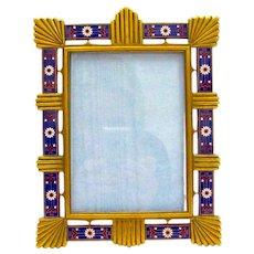 Antique French Art Deco Enamelled Photo Frame