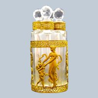 Napoleon III Dore Bronze and Crystal Perfume Set.
