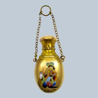 Antique French 'Chinoiserie' Perfume Bottle Chatelaine