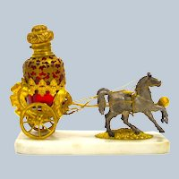 Antique Palais Royal Dore Bronze Carriage Perfume Set