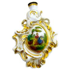 An Antique Continental Perfume Bottle in the Rococo Style