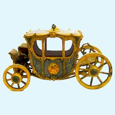 Rare and Beautiful Large Antique Marquise de Sevigne, Paris, Wooden Carriage for Displaying Objects or Dolls.