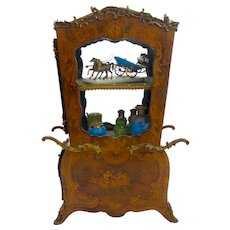Exceptional Monumental French Antique Vitrine Shaped as a Sedan Chair