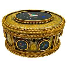 High Quality Antique Tahan Paris, Pietra Dura Jewellery Casket Box.