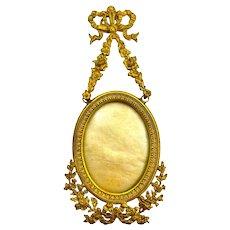 Finest Quality Antique Miniature Empire Dore Bronze Picture Frame