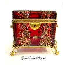 Stunning MOSER 19th Century Rich Ruby Red Casket