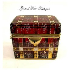Fantastic Moser Ruby Glass Casket