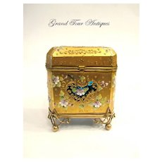 Rare MOSER 19th Century Turquoise Casket
