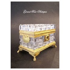Super Quality Charles X Cut Crystal Casket